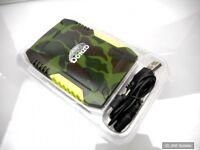 DONZO® Powerbank 7800mAh Li-Polymer externer Akku - Wasserfest - Military Style