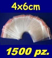 4x6 cm buste bustine zip plastica SACCHETTI 1500 pz.