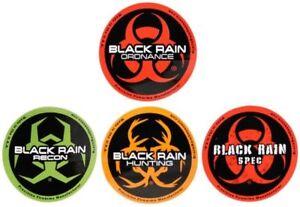 "4"" Black Rain Ordnance 4 pack Decal Stickers"