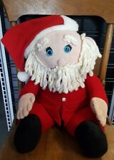 "Vintage 1986 Large HALLMARK STUFFED Santa Claus Christmas Holiday 15"" Plush Doll"