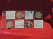 N0106-01mamA5 Rare set of Early Australian Test Cricketers 4 Medallions
