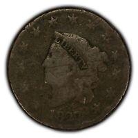 1827 1c Coronet Head Large Cent - Better Date - SKU-Y2375