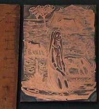 BIBLISCHE SZENE Galvano Druckstock Kupferklischee Druckplatte Eichenberg Bibel