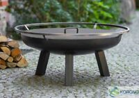 Korono Feuerschale 80cm Durchmesser mit Stahl Deckel, Handmade