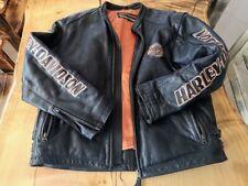 VTG  Harley-Davidson Limited Embellished Motorcycle Biker Thick Leather Jacket L