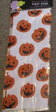 Halloween-Cello Treat bags-20 with Ties-Pumpkins-Combine for Free ship