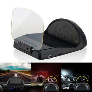 Car GPS HUD Head Up Display Speedometer LCD Screen Projector OBD2 II Car Vehicle