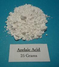 25 grams Azelaic Acid Powder, Nonanedioic Acid 99+% pure