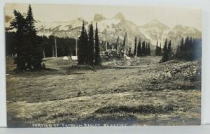 Mt Rainier RPPC Portion of Tatoosh Range Paradise Valley Postcard M19