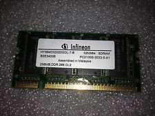 Memoria SoDimm DDR Infineon HYS64D32020GDL-7-B 256MB PC2100 266MHz CL2.5 200 Pin