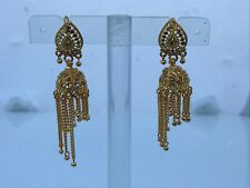 Women Earrings Jhumka Gold Tone Bollywood Ethnic Traditional Earrings Jhumki