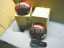 """New 7 inch pair  """"STOP"""" lamp assemblies w/mounting hardware BUS-Truck"""