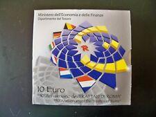 ITALIA-2007-10 EURO-TRATTATO DI ROMA-ARGENTO-FONDO SPECCHIO