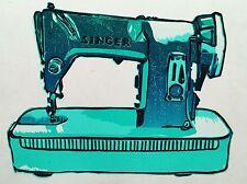 Reduction lino print of a retro Singer sawing machine