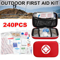 240 Pcs First Aid Kit Emergency Medical Survival Bag Travel Home Car Camping