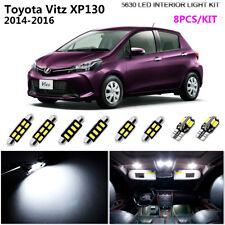 8Pc HID White 6K Interior Light Kit LED For 2014-2016 Toyota Vitz XP130+Parking
