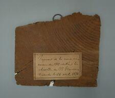 Reliquaire, Relique, fragment de Croix en bois, Chapelle Ste Maurice, 1827/1896