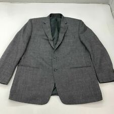 Chaps Blazer Suit Jacket Men's Size 48L Long Sleeve Gray Two-Button Front Wool