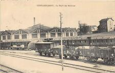 CPA 54 CONFLANS JARNY LE DEPOT DES MACHINES (TRAIN