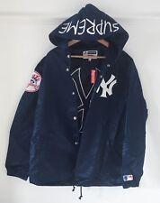 Supreme X di New York Yankees Baseball Giacca con cappuccio in blu. Taglia media. Nuovo con etichette.