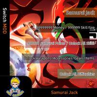 Samurai Jack: Battle Through Time(Switch Mod)-Max Money/Skill Fire/Points/Weapon