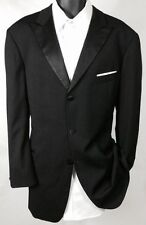 $800 HUGO BOSS TUXEDO JACKET Black Solid Wool Super 100 Made in USA 38R