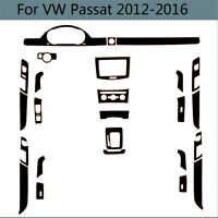 Interior Center Console Carbon Fiber Molding Sticker Decal For VW Passat B7