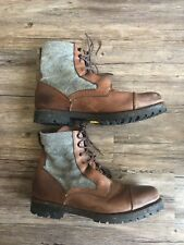 RAG & BONE BOOTS GOODYEAR BROWN LEATHER LACED WORKMAN MILITARY STYLE ANKLE 12