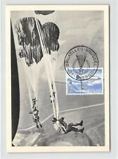 Bélgica Mk 1960 paracaidista Skydiver Carte maximum card mc cm d9648
