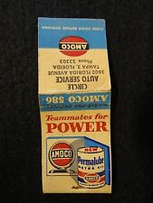 Vintage MATCHBOOK Matches - AMOCO Motor Oil CIRCLE AUTO SERVICE Tampa FL