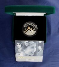 "2006 Silver Piedfort Proof £5 coin ""Queens' 80th"" in Case with COA   (L638/1)"