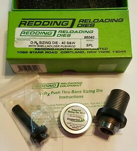96040 REDDING G-Rx PUSH-THRU BASE STEEL SIZING DIE SET - BRAND NEW