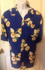 Puritan Hawaiian Camp Shirt 100% Rayon Loop Collar Extra Large 46-48 Vintage Top