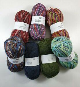 Rico Superba Bamboo Superwash 4 Ply Sock Knitting Yarn - 100g