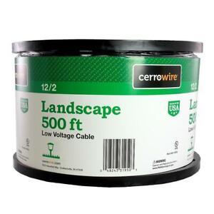 Cerrowire Landscaping Sprinkler Lighting Cable 500-Ft. Low Voltage Copper Black