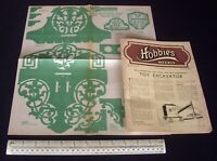 Home Front Hobbies 1942 Fretwork Design + Toy Excavator, Army Uniforms Stand-Ups
