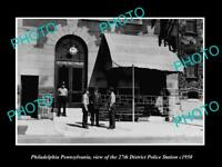 OLD HISTORIC PHOTO OF PHILADELPHIA PENNSYLVANIA THE 27th POLICE STATION c1950
