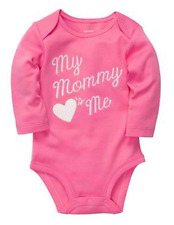 "Carter's ""My Mommy Loves Me"" Pink L/S Bodysuit Infant/Baby Girl Clothes, 12 mos"