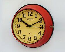Vintage Original Red Slave Maritime Wall Clock Nautical Ship Seiko Quartz Japan