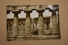 PAESTUM SALERNO TEMPLE OF NEPTUNE ITALY REAL PHOTO UNPOSTED
