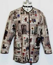 "GIESSWEIN Brown WOOL Sweater Jacket SHORT SLEEVES ~ BEARS ~ AUSTRIA B42"" 36 12 M"