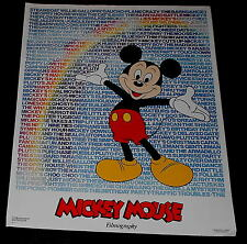 Mickey Mouse Filmography Poster 1985