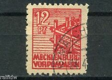 SBZ Mecklenburg 12 Pfg. Neubau 1946 Michel 34 z b geprüft (S6511)