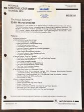 Motorola - Mc68331 32-Bit Microcontroller Data Sheet (1991)