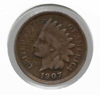 Rare Old Antique US 1907 Indian Head Penny Cent Collectible Collection Coin W33