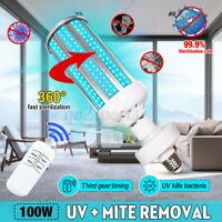 100W E27 360 LED UV Germicidal Sterilization Lamp UVC Disinfection Light Bulb