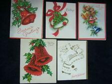 6 Christmas Bells ~ 6 Vintage Christmas Greeting Cards Holiday Bells