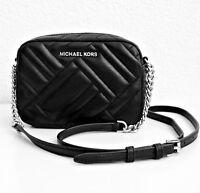 Michael Kors Tasche/Bag Vivianne MD Crossbody Quilted Leather Black/Silver NEU