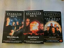1st Editions! 3 Stargate Sg-1 Novels 1 (Valhalla, Relativity, The Price You Pay)