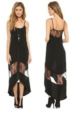 NEW Sexy Black Sheer Lace Sleeveless Long Hi-Low Lingerie Dress / Gown Size M